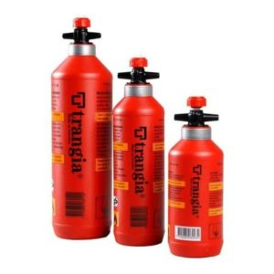 Trangia Fuel Bottles With Safety Valve - Red - 0.3, 0.5 and 1L