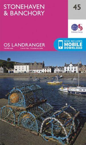 Ordnance Survey Landranger Map 45 Stonehaven & Banchory