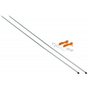 Vango Steel King Poles - 180cm - Silver