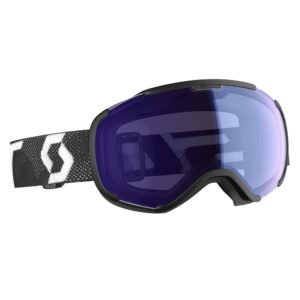 Scott Faze II Snow Sports Goggles (Black/White) Illuminator Blue/Chrome