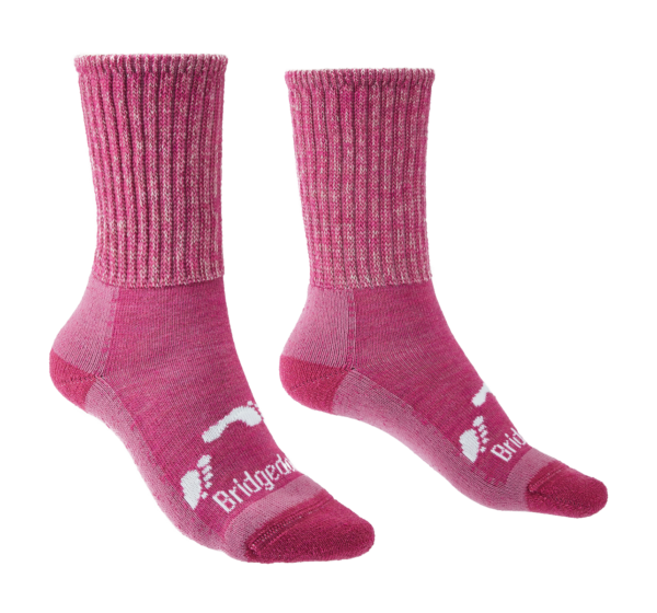 Bridgedale Junior Hike All Season Merino Comfort Hiking Socks (Pink)
