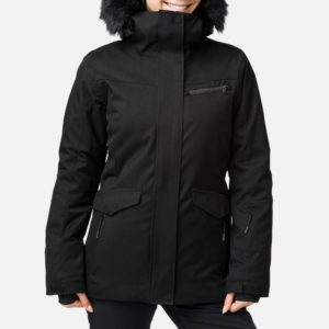 Rossignol Women's Parka Black Ski Jacket (Size 10 UK)