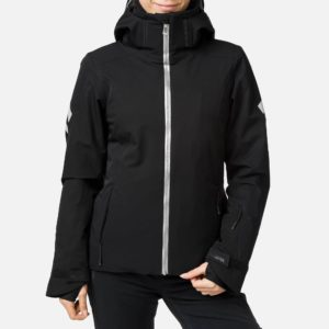 Rossignol Women's Course Shiny Ski Jacket - Size 10 UK - Black
