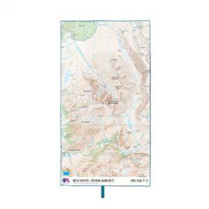 LifeVenture SoftFibre Ordnance Survey Travel Towel - Ben Nevis