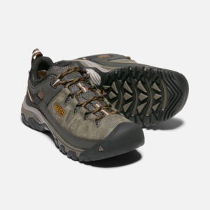 Keen Men's Targhee Waterproof Walking Shoes (Black Olive/Golden Brown)