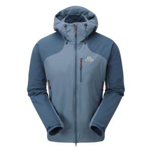 Mountain Equipment Men's Frontier Hooded Softshell Jacket (Alaskan/ Denim Blue)