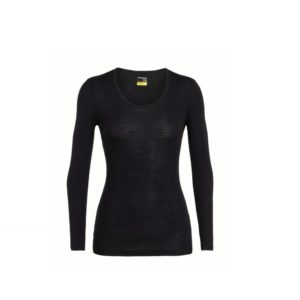Icebreaker Women's 175 Everday LS Scoop Neck (Black)