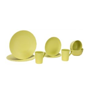 Vango 2 Person Bamboo Tableware Set (Green)