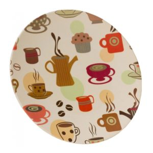 Vango Bamboo Dinner Plate 28cm (Coffee Cup Print)