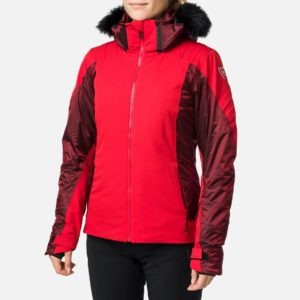 Rossignol Women's Aile Ski Jacket - Carmin Red - Snowsports Jacket