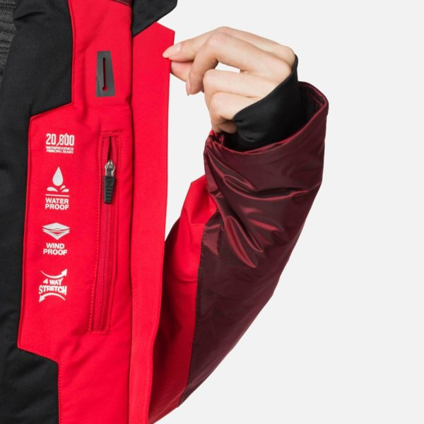 Rossignol Women's Aile Ski Jacket - Carmin Red - Snowsports Jacket