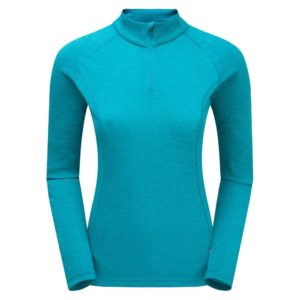 Montane Women's Dart Zip Neck LS Base Layer Top (Blue Ridge)