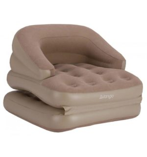 Vango Inflatable Sofabed Single - Nutmeg - Fold out Bed
