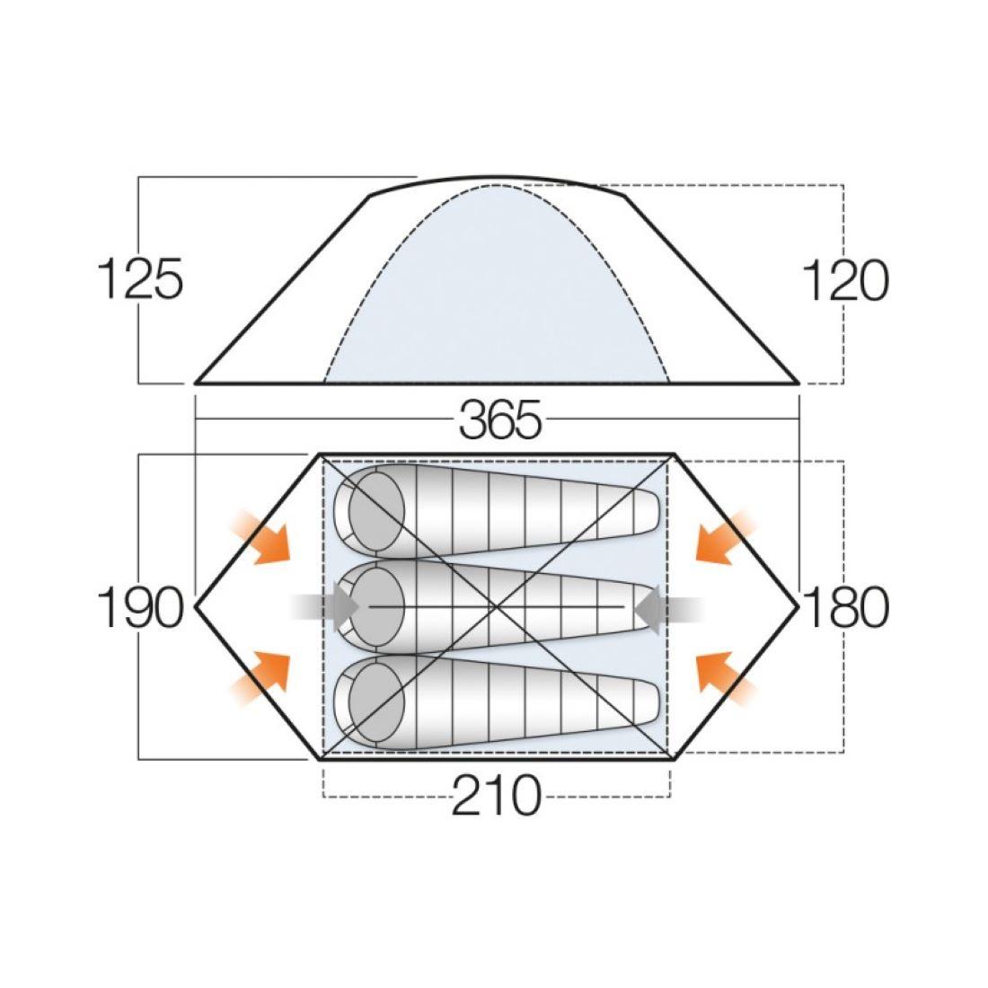 Vango Zeta 300+ Alloy Poled Tent