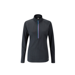 Rab Women's Interval LS Zip Tee (Ebony)