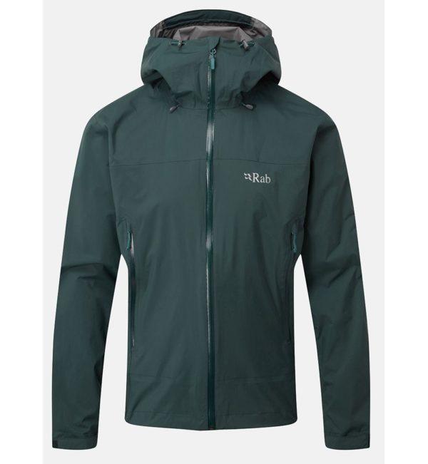 Rab Men's Downpour Plus Waterproof Jacket (Pine)