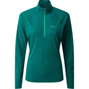 Rab Women's Pulse LS Zip Base Layer (Atlantis)