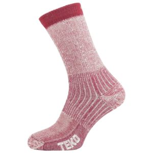 Teko Women's Merino Hiking Socks Light Cushion (Cranberry)