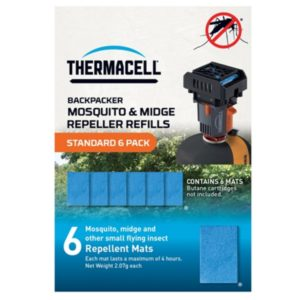 Thermacell Backpacker Standard Mosquito & Midge Repellent Mat Refill Pack (6 Pack)
