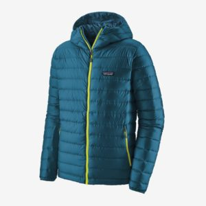 Patagonia Men's Down Sweater Hoody Jacket (Crater Blue)