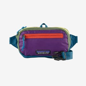 Patagonia Ultralight Black Hole® Mini Hip Pack 1L (Patchwork/Stellar Blue)