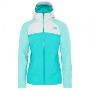 The North Face Women's Women's Stratos WP Jacket (Ion Blue/ Mint Blue/ Tin Grey)