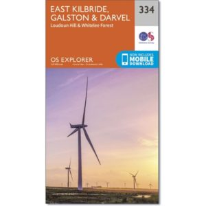 Ordnance Survey Explorer Map 334 East Kilbride, Galston & Darvel