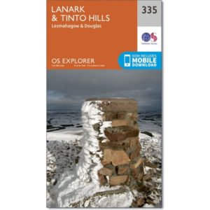 Ordnance Survey Explorer Map 335 Lanark & Tinto Hills