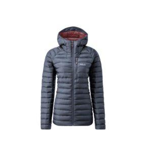 Rab Women's Microlight Alpine Long Recycled Down Jacket (Steel)