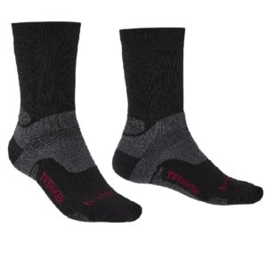 Bridgedale Men's Hike Midweight Merino Performance Boot Socks (Black)
