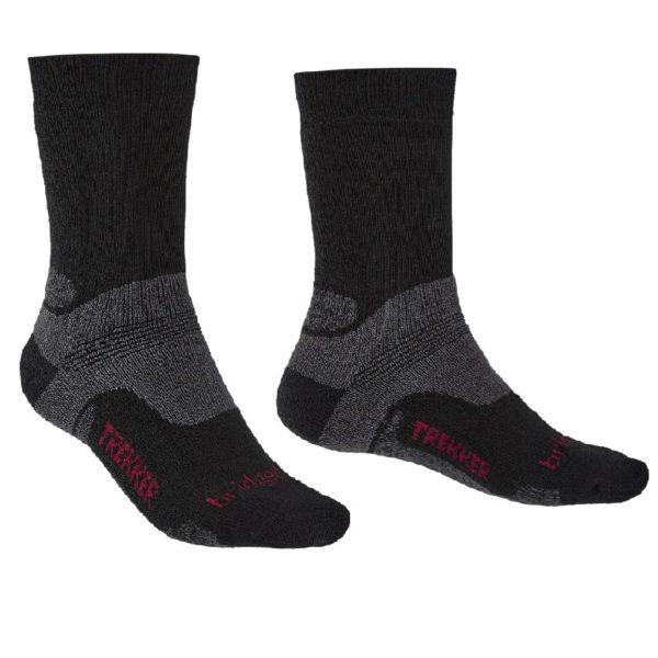 Bridgedale Men's Hike Midweight Merino Performance Boot Socks (Black)