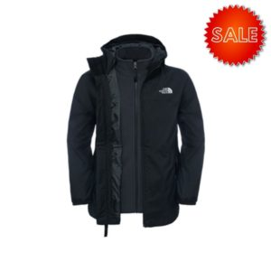 The North Face Youth Elden Rain Triclimate Jacket (Black)