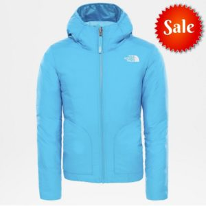 The North Face Girls' Reversible Perrito Insulated Jacket (Acoustic Blue)