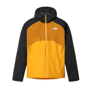 he North Face Men's Stratos Hooded WP Jacket (Summit Gold/TNF Black) - Yellow