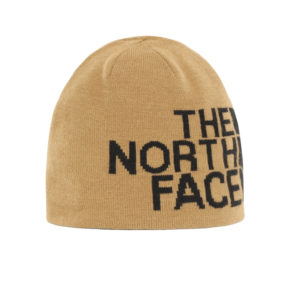 The North Face Reversible TNF Banner Beanie (Brown/Khaki)