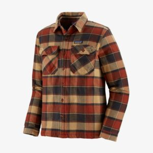 Patagonia Men's Insulated Fjord Flannel Jacket - Burnished Red - Size XL