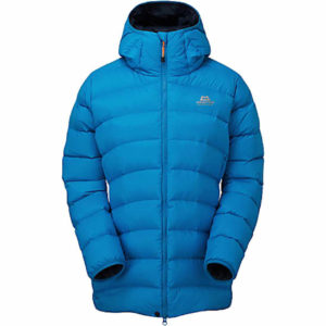 Mountain Equipment Women's Skyline Hooded Down Jacket - Size 10 (Azure)