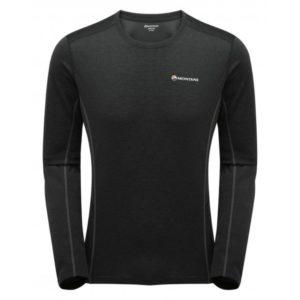 Montane Men's Dart Long Sleeve Crew T-Shirt - Black