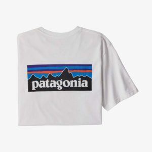 Patagonia Men's P-6 Logo Pocket Responsibili-Tee® (White)