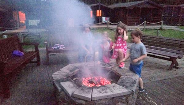 Kids Toasting Marshmallows