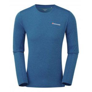 Montane Dart Long Sleeve T-Shirt - Lightweight Technical Tee Shirt (Electric Blue)