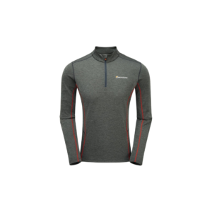 Montane Men's Dart Long Sleeve Zip Tee (Shadow Grey)