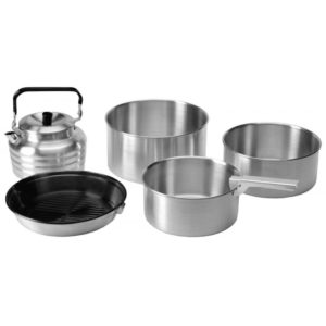 Vango Aluminium Cook Set - Pots, Pan & Kettle