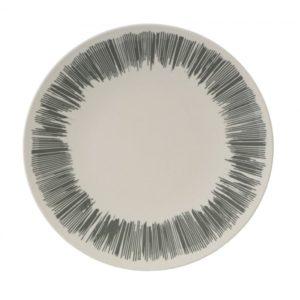 Vango Bamboo 28cm Dinner Plate - Grey Stripe